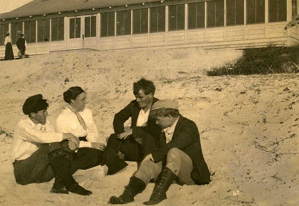 Jack London and friends at Carmel artists colony.