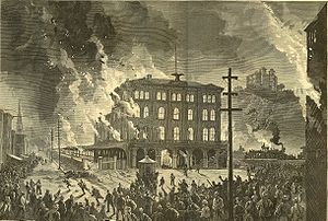 Burning of Union Depot, Pittsburgh during the Great Upheaval