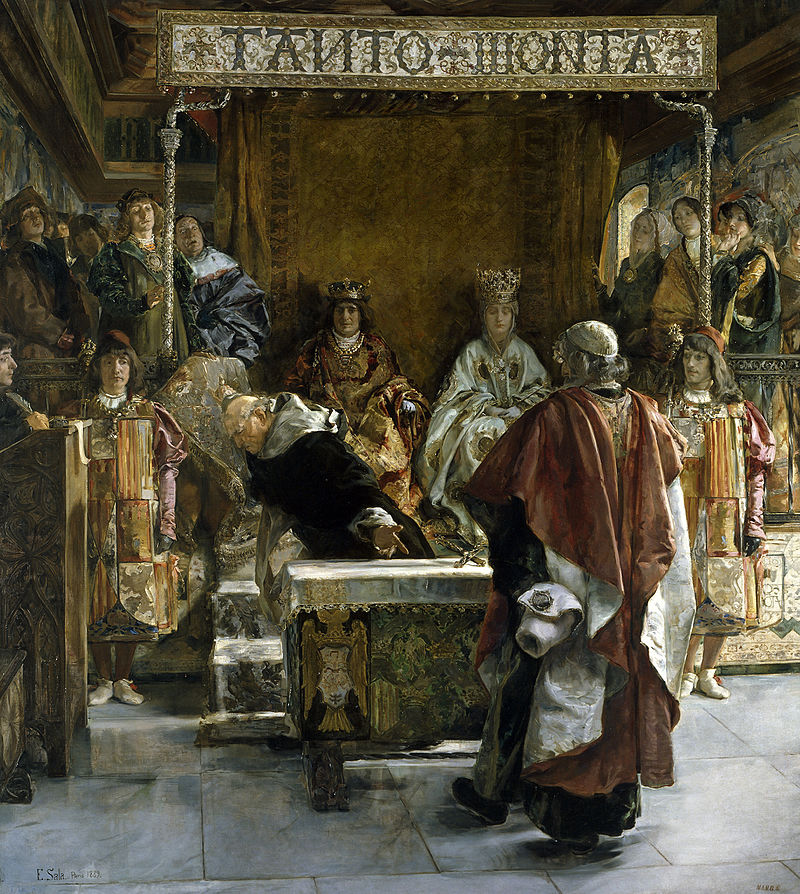 Today in Labor History March 31, Expulsion of the Jews from Spain in 1492 by Emilio Sala Francés