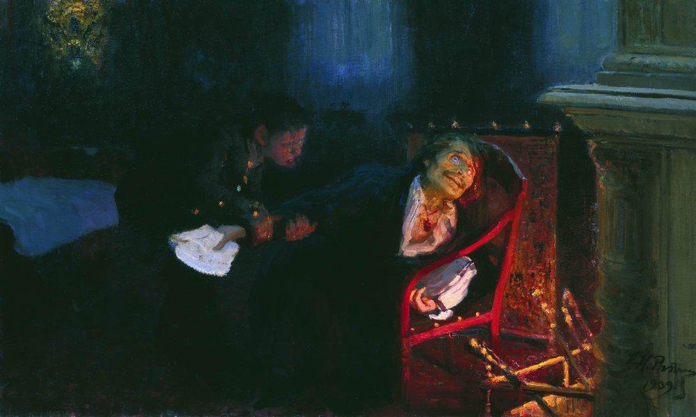Today in Labor History March 30, Birth of Nikolai Gogol. Ilya Repin painting, Gogol Burning Dead Souls.