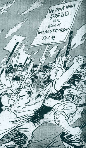 Anti-worker newspaper propaganda during the Saint Louis Commune and Great Upheaval