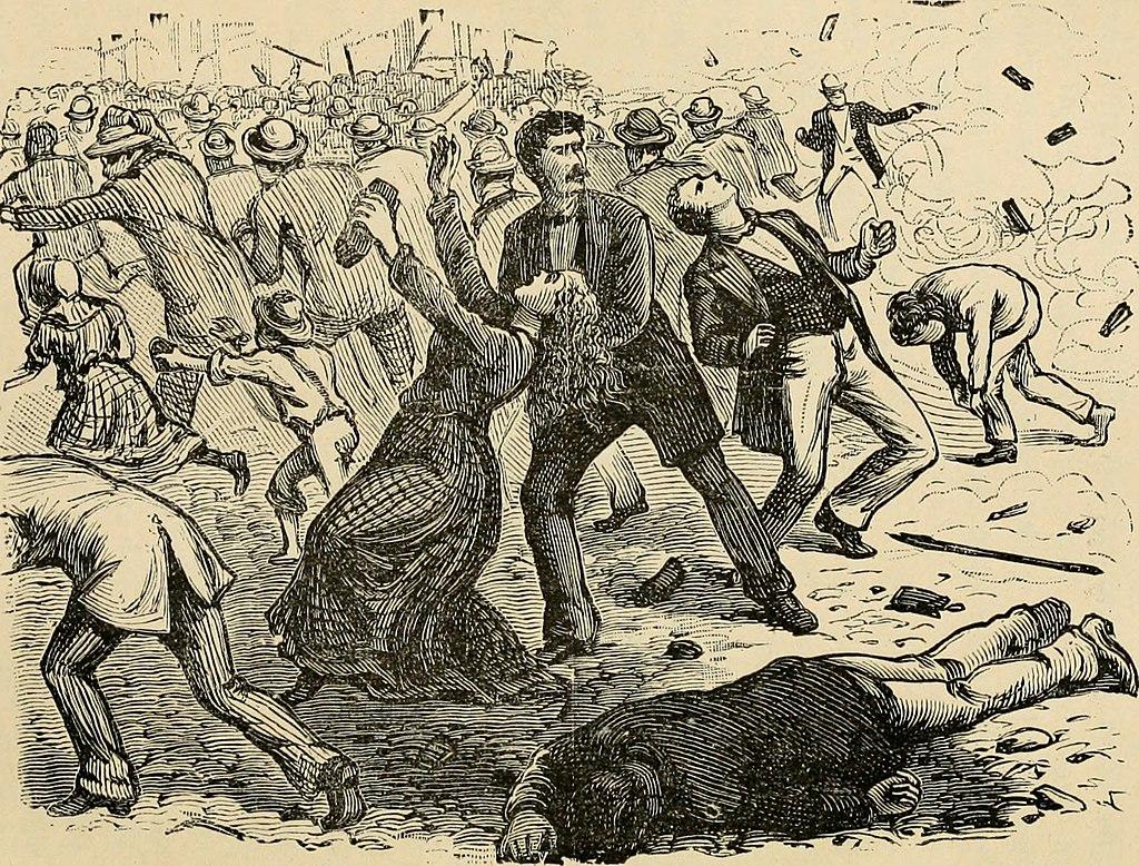 Reading Railroad massacre on July 23, 1877