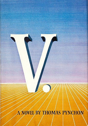 Book cover for Pynchon's V.