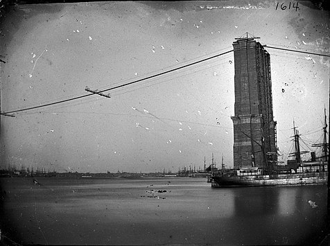 Today in Labor History May 24, 1883:After 14 years of construction, the Brooklyn Bridge over New York's East River opened.