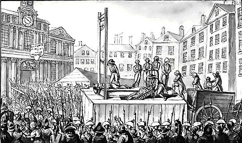 Victims of the reign of terror after the French Revolution.