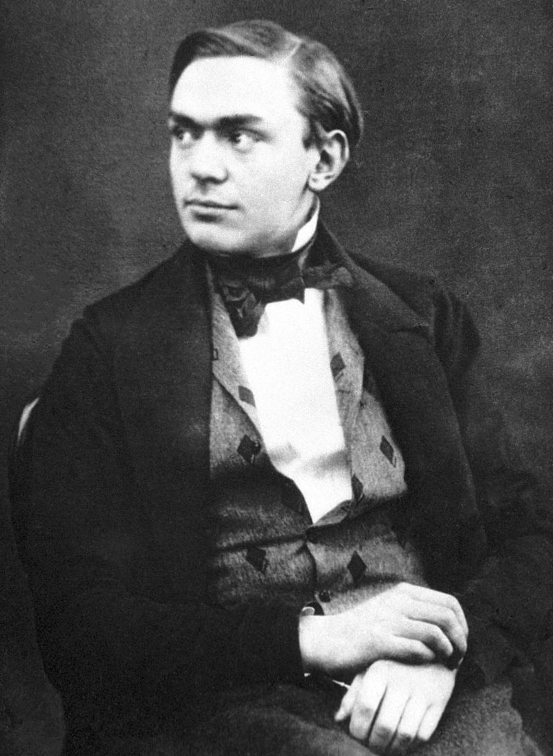 Alfred Nobel, The Merchant of Death, as a young man.