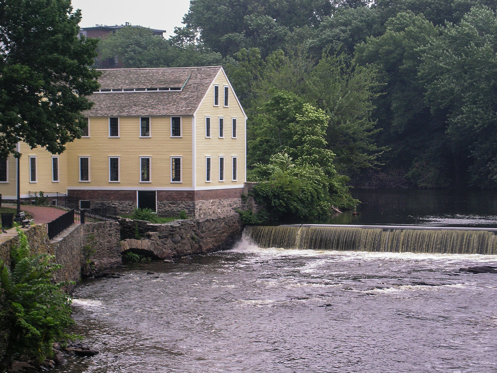 The Slater Mill, Pawtucket, site of the first factory strike in U.S. history, May 26, 1824