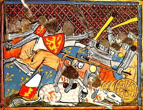 Today in Labor History July 11, 1302: Flemish weavers defeated the Flemish and French cavalries in the Battle of the Golden Spurs