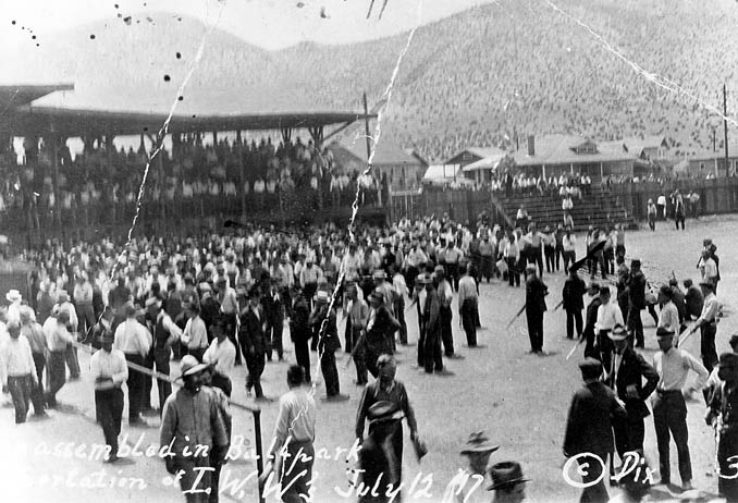 Today in Labor History July 10, 1917, vigilantes deported 100 IWW members from Jerome, AZ, in prepraration for the much larger Bisbee deportation that would occur 2 days later